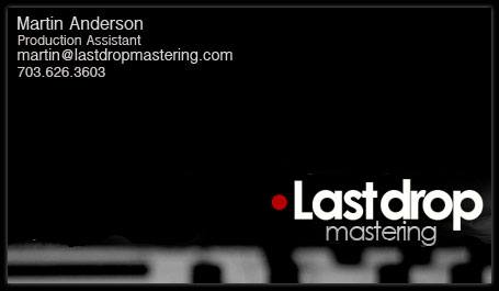 Martin Anderson Contact Card @ Last Drop Mastering